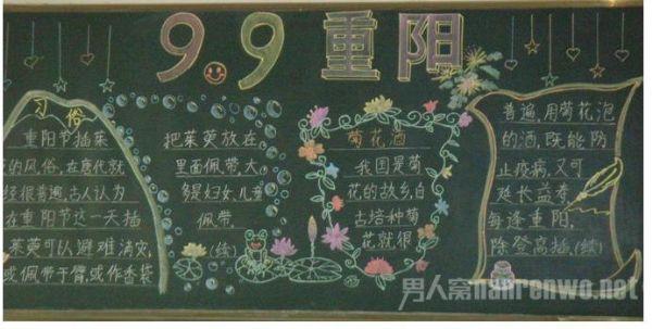 黑板报 重阳节,实际是我国农民喜庆丰收的一个