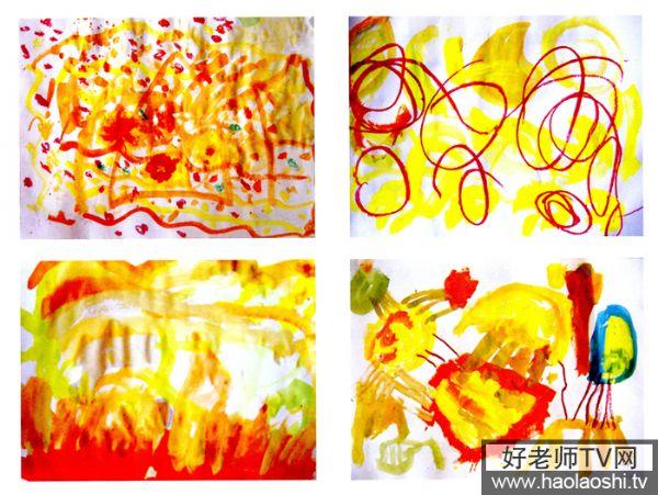 幼儿园小班美术教案彩色画活动5