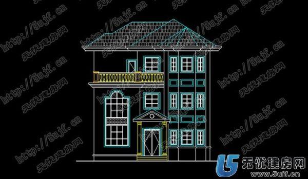 农村房屋设计图 三层别墅外观效果图