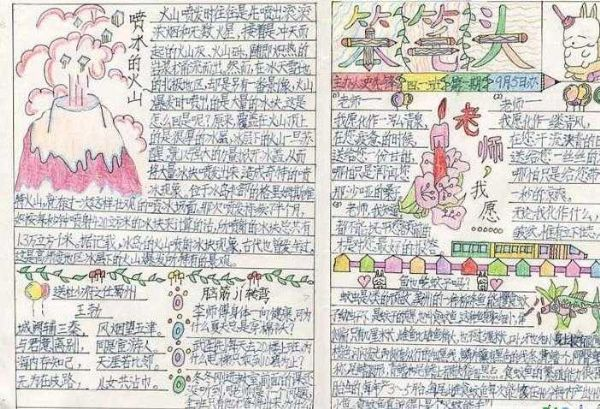 感恩老师的手抄报版面设计图