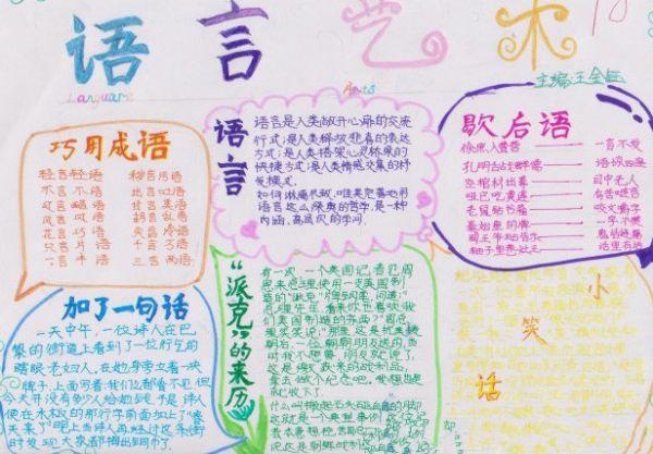 【关于语言艺术的手抄报13篇】