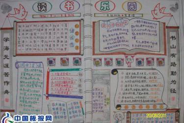 小学读书手抄报图片-读书乐园-好书推荐电子手抄报图片