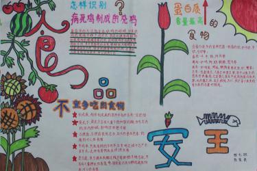 爱生命抵制垃圾食品手抄报版面设计图
