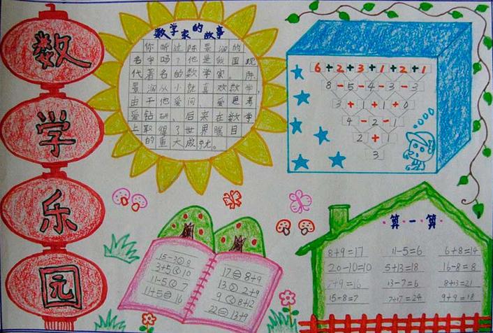 小学二年级数学手抄报大全图片