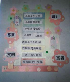 上章小学开展 书香校园 班级文化建设评比活动