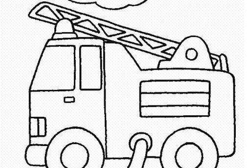 救火车简笔画图片
