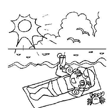 怎么画夏天景色简笔画