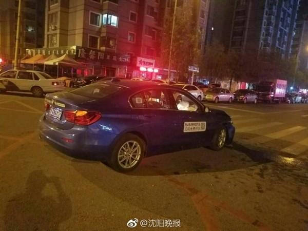 沈阳共享宝马首次交通肇事:连撞3车