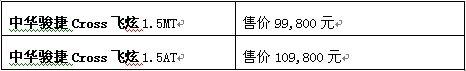 华晨三款新车齐上市FSV运动版8.88万起售