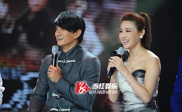 吴奇隆与甘婷婷。
