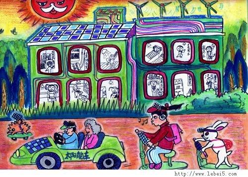 环境保护手绘画