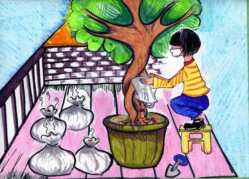 儿童环保绘画作品展