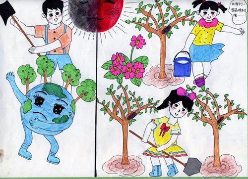 儿童环保绘画作品展 lebei5.com