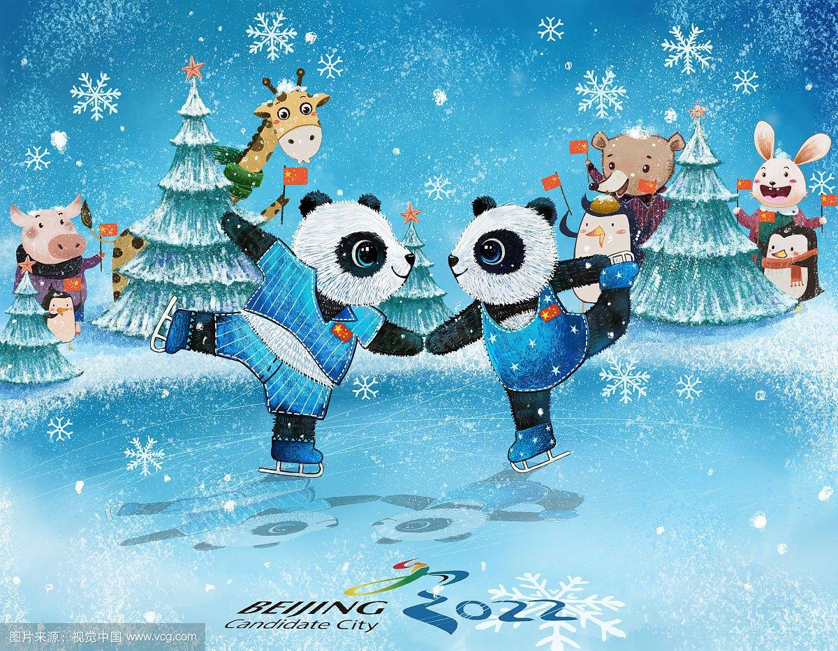 冬奥会主题的绘画素材大全