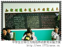 中学生日常行为规范养成教育实施方案